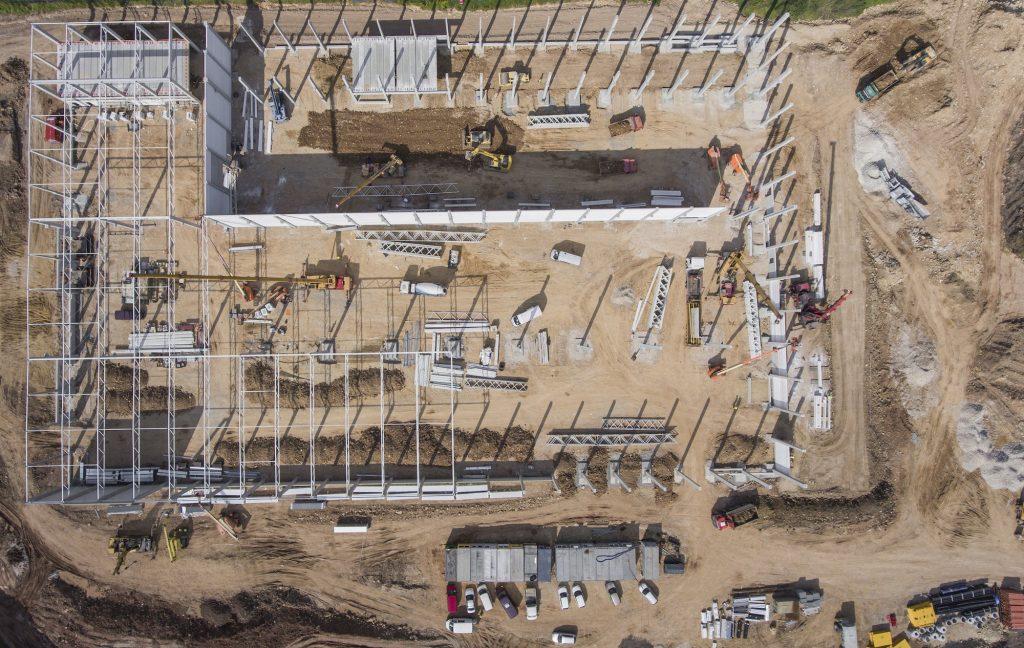 construction site survey taken by drone