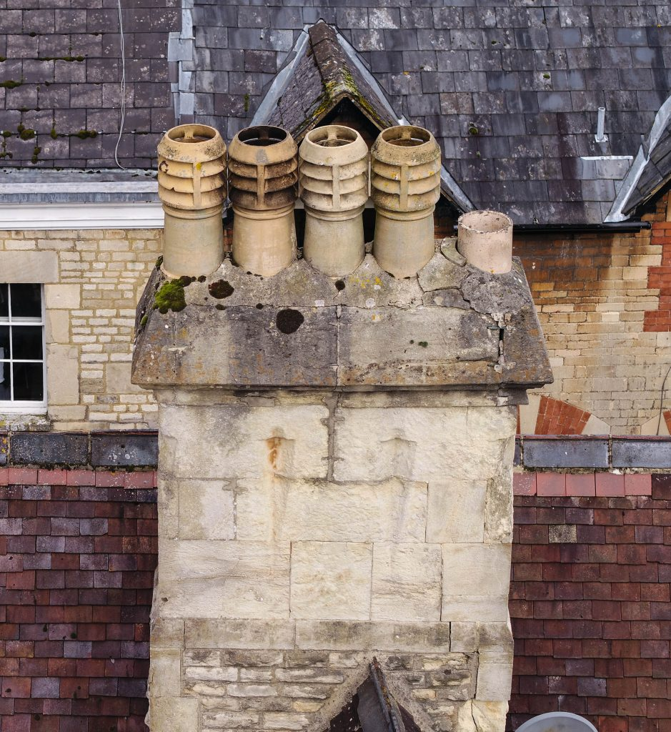 chimney and roof inspection by bristoldrones
