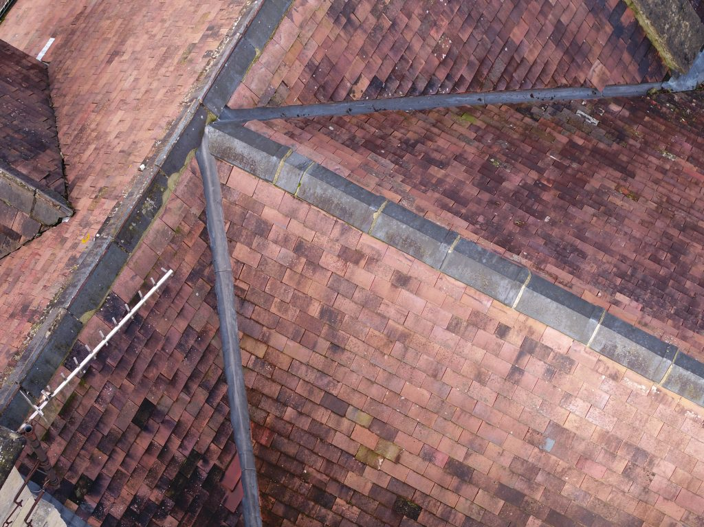 roof image taken during inspection iwth drone