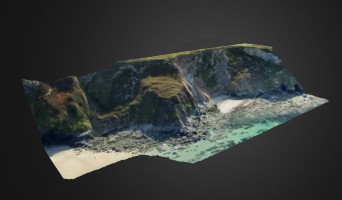 3d coastal image taken with drone