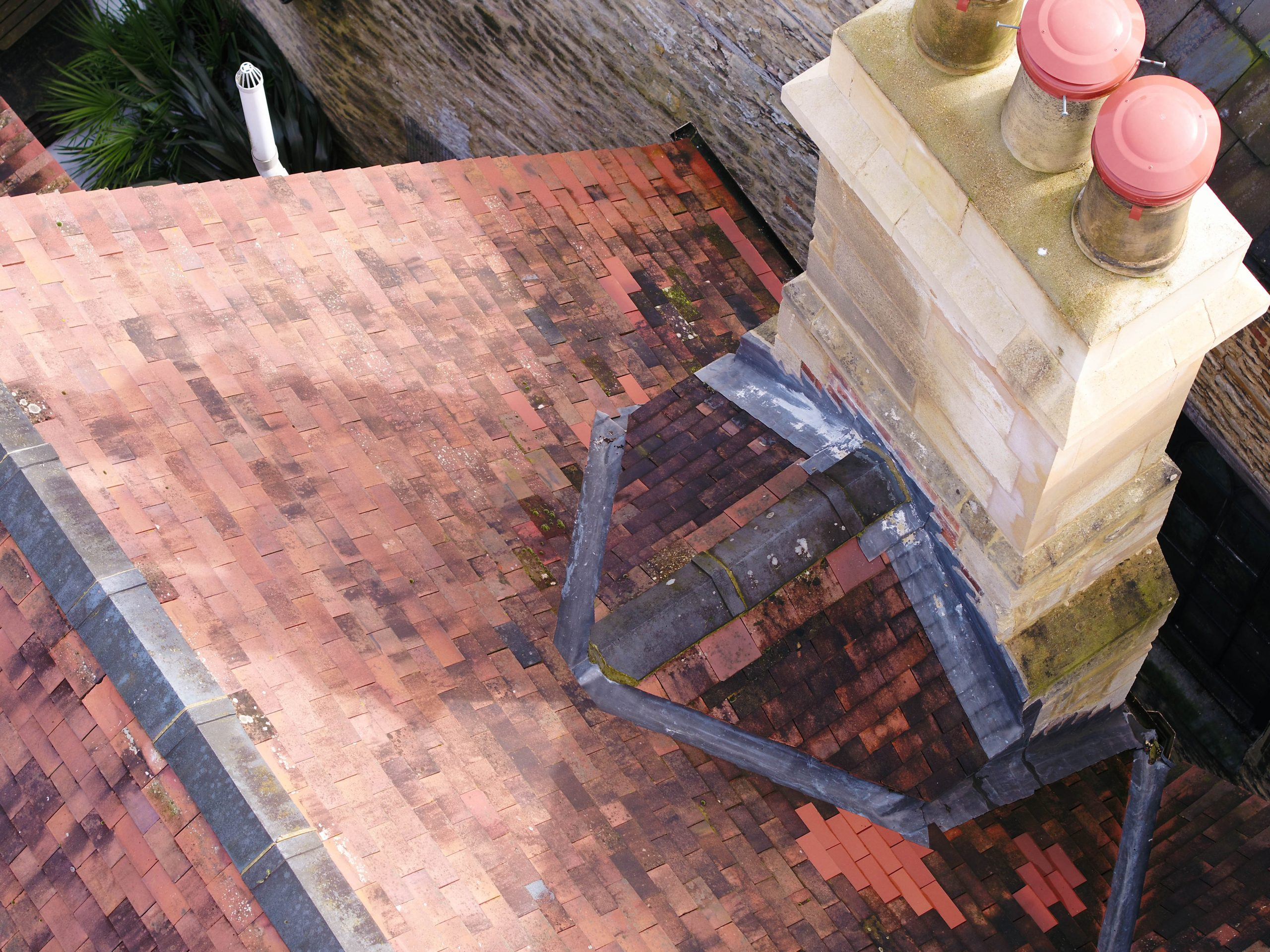 chimney drone inspection