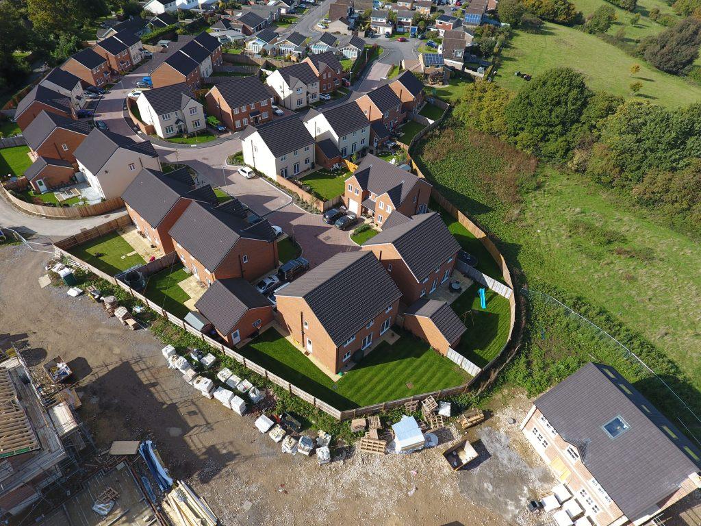 housing estate image taken with drone