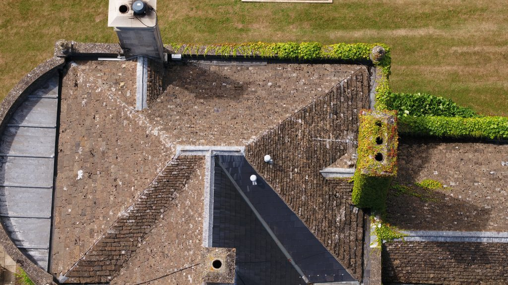 roof sinpection image taken with drone