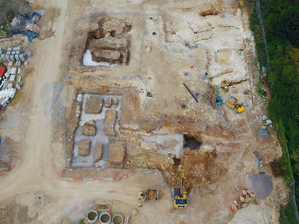 site survery done with drone