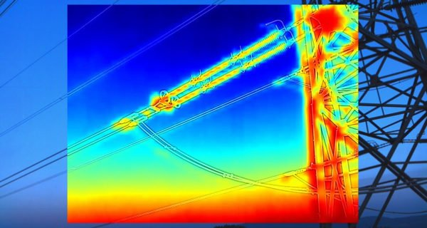 thermal image taken by drone of bristol