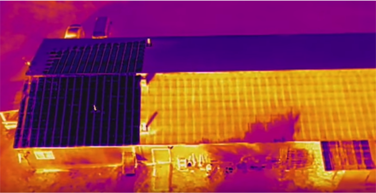 thermal image of roof