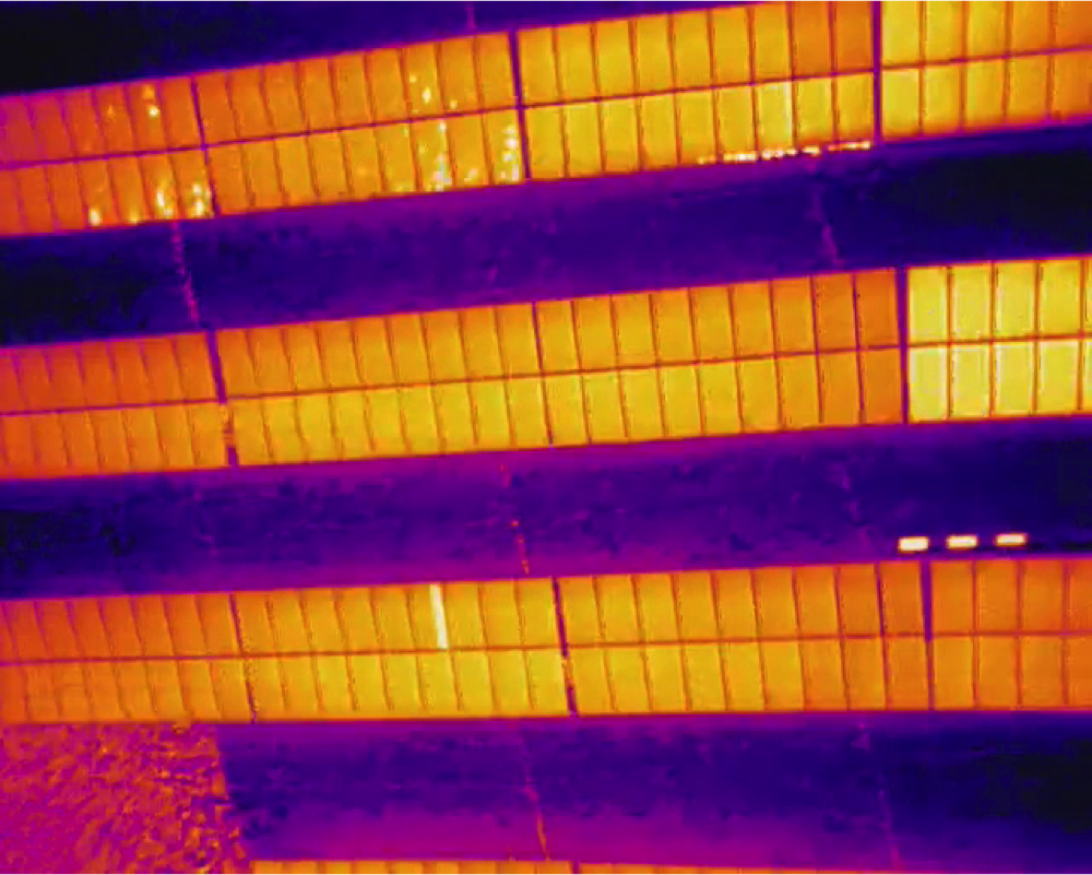 thermal image drone inspection