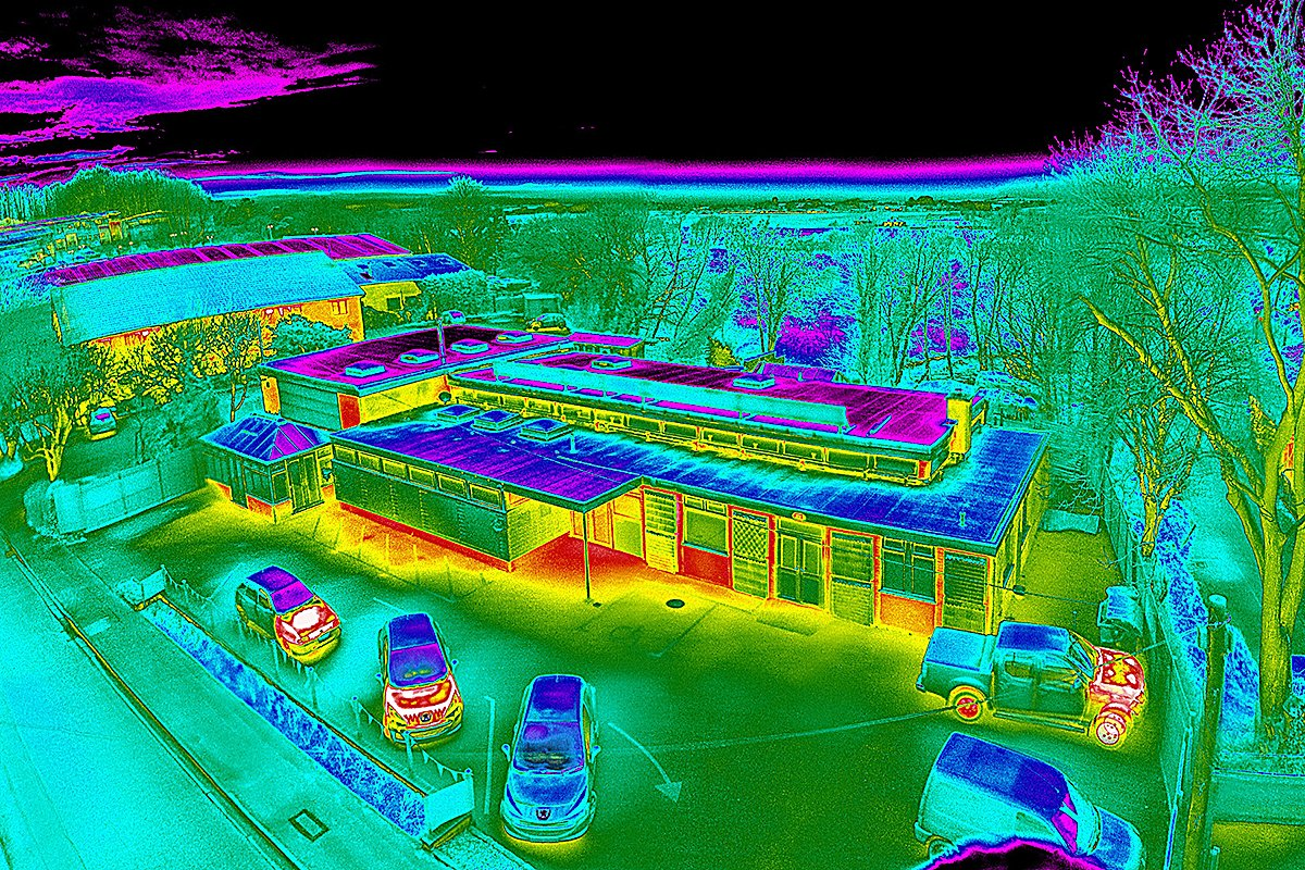 infrared drone image