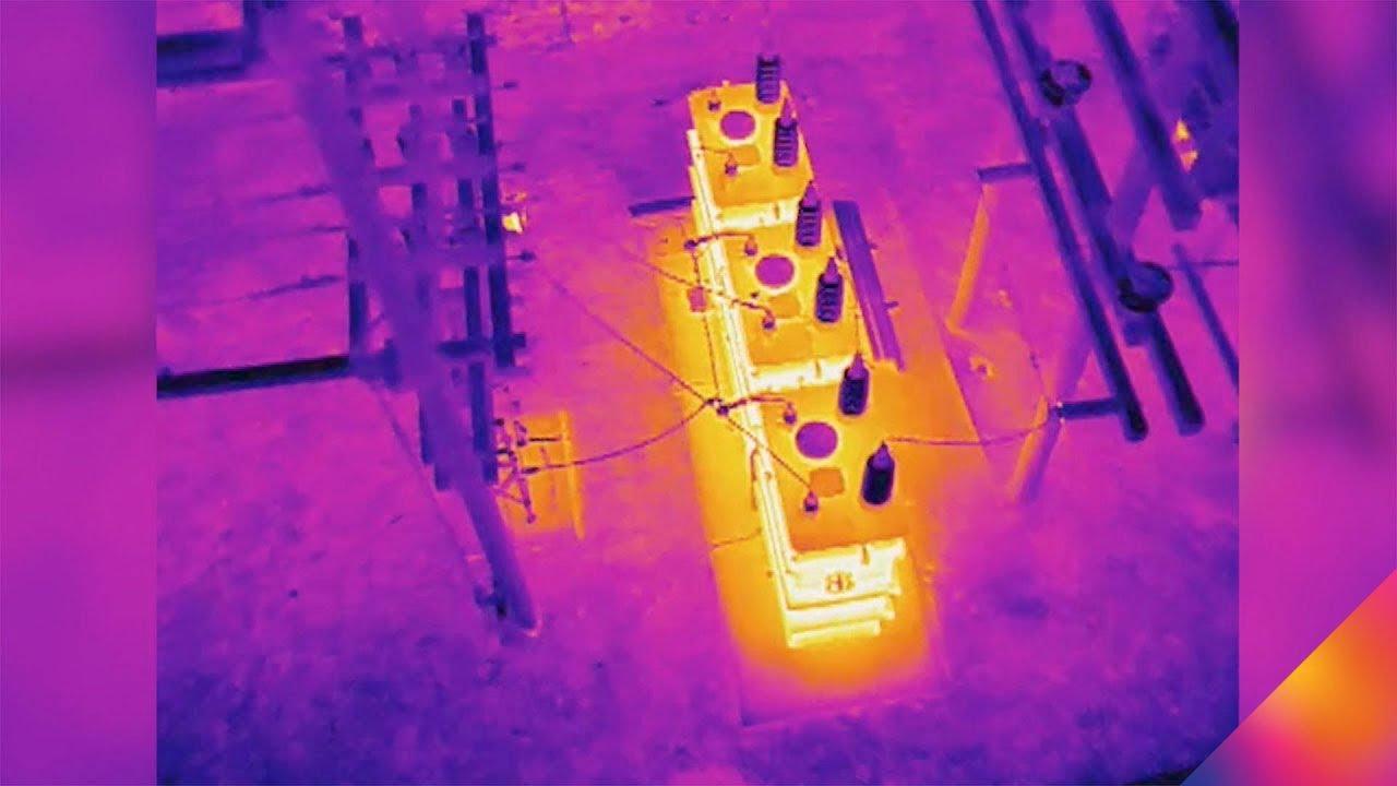 infrared image taken by bristoldrones