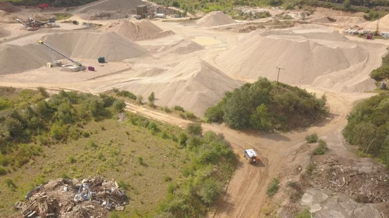 Drone image of construction site bristol